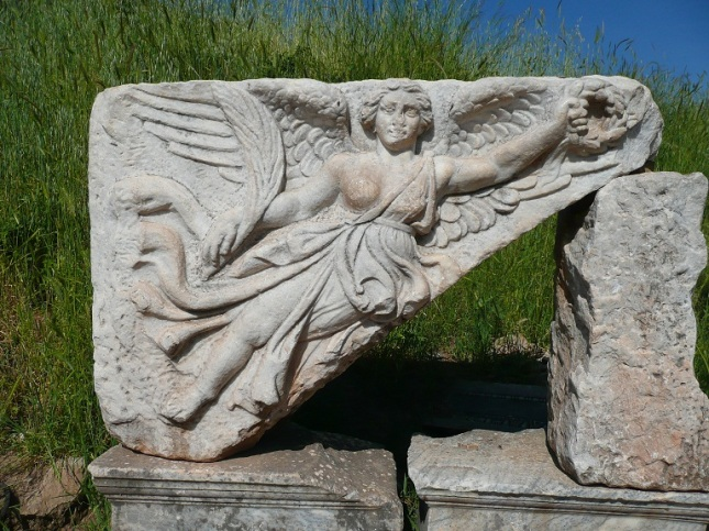 Winged Victory statue found at Ephesus